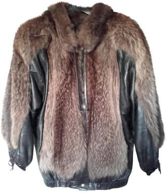 Guy Laroche Black Fox Leather Jacket for Women