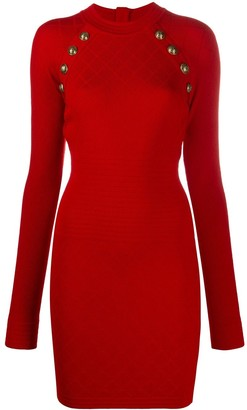 Balmain Fitted Knit Mini Dress