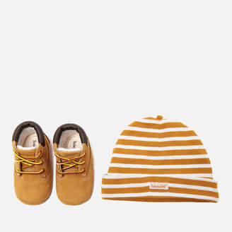 Timberland Babies' Crib Bootie with Hat Gift Set