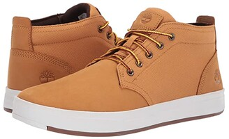 Timberland Davis Square Leather and Fabric Chukka (Wheat Nubuck) Men's Lace-up Boots