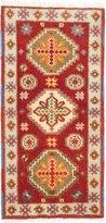 Ecarpetgallery Hand-knotted Oriental Kazak Geometric 2' x 4' 100% Wool area rug