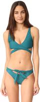 MinkPink Oceans Wrap Bikini Top