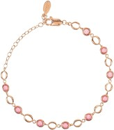 Latelita Milan Link Gemstone Bracelet Rose Gold Pink Tourmaline
