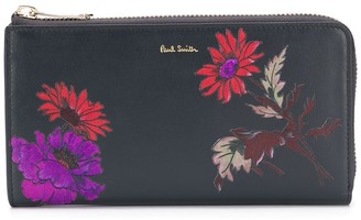Paul Smith Floral-Print Zip-Around Wallet