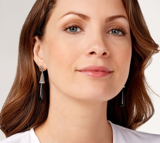 Generation Gems Beaded Texture Gemstone Drop Earrings Sterling Silver