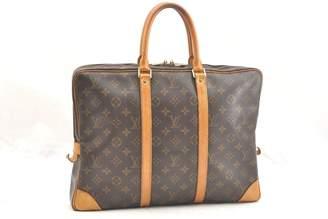Louis Vuitton Porte Documents Voyage Brown Cloth Bags