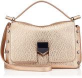 Jimmy Choo LOCKETT/S Dore Metallic Grainy Leather Handbag