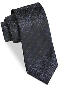 John Varvatos Filmore Textured Diagonal Stripe Silk Classic Tie