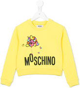 Moschino Kids - logo print sweatshirt - kids - Cotton/Spandex/Elastane - 5 yrs