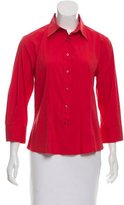 Carolina Herrera Button-Up Poplin Top