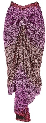 Halpern Degrade-sequin Midi Skirt - Womens - Pink Multi