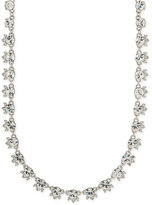 Givenchy Silver-Tone Round Crystal Choker Necklace