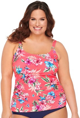Croft & Barrow Plus Size Ruched Tankini Top