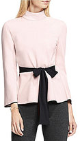 Vince Camuto Bell Sleeve Mock Neck Belted Top