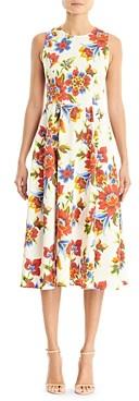 Carolina Herrera Floral Print A Line Dress