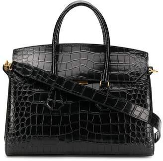Bally embossed croc effect tote bag