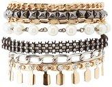 Charlotte Russe Embellished Textured & Faux Pearl Bracelet