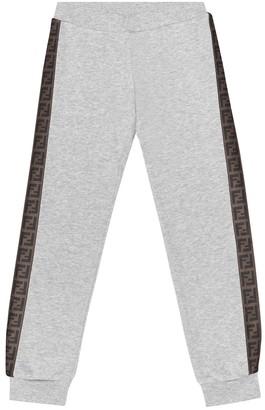 Fendi FF cotton trackpants