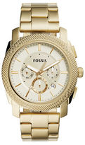 Fossil Round Stainless Steel Bracelet Chronograph Watch