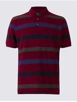 Blue Harbour Slim Fit Pure Cotton Striped Polo Shirt