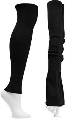 Rick Owens Ribbed Cotton-blend Leg Warmers
