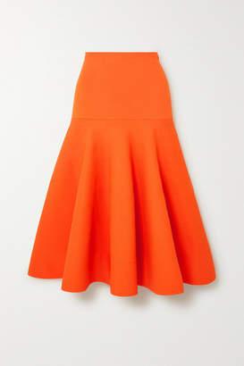 Nina Ricci Pleated Terry Midi Skirt - Orange
