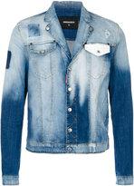 DSQUARED2 contrast pocket washed denim jacket - men - Cotton/Spandex/Elastane - 48