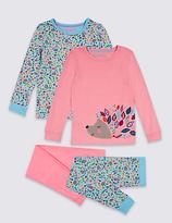 Marks and Spencer 2 Pack Hedgehog Pyjamas (9 Months - 8 Years)