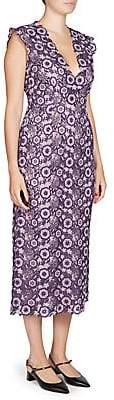 Erdem Women's Eleri V-Neck Dress