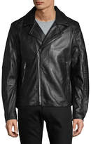 Karl Lagerfeld Leather Motorcycle Jacket
