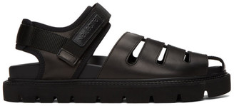 Neil Barrett Black Sampei Sandals