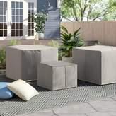 Tegan Sol 72 Outdoor Water Resistant 3 Piece Patio Chair Cover Set Sol 72 Outdoor Color: Gray