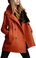 Zilcremo Women Winter Elegant Double Breasted Thicken Woolen Trenchcoat Outcoat XXL