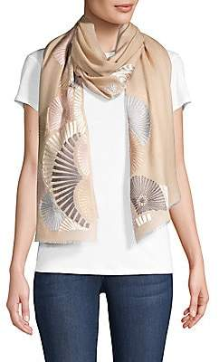 Janavi Women's Shades Graphic-Embroidered Cashmere Scarf