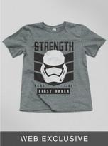 Junk Food Clothing Kids Boys The Force Awakens Stormtrooper Tee-steel-xl