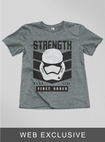 Junk Food Clothing Kids Boys The Force Awakens Stormtrooper Tee-steel-xs