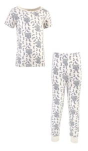 Touched by Nature Little Girls and Boys Elephant Tight-Fit Pajama Set, Pack of 2