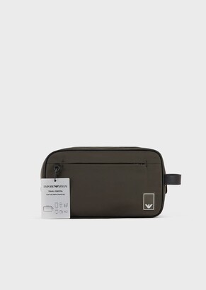 Emporio Armani Nylon Washbag With Eagle Patch