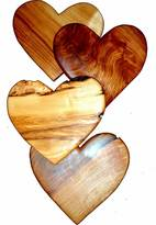 Sticks and Stones Heart Shaped Chopping Board