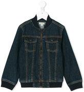 Kenzo long-sleeve denim jacket - kids - Cotton/Spandex/Elastane - 4 yrs