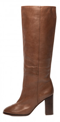 Massimo Dutti Brown Leather Boots