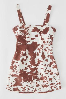 Show Me Your Mumu Dorothy Cow Print Mini Dress