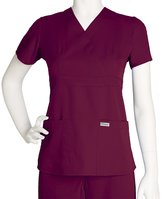 Grey's Anatomy Scrubs - Greys Anatomy by Barco Uniforms Junior Fit 3 Pocket Mock Wrap Scrub Top