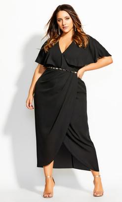 City Chic Enchantment Maxi Dress - black