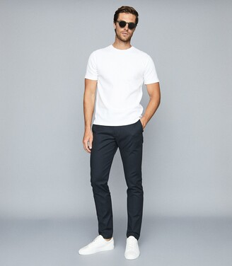 Reiss Putney - Textured Crew Neck T-shirt in White