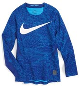 Nike Boy's Pro Hyperwarm Dri-Fit Training Top