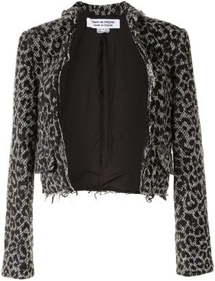 Comme des Garçons Comme des Garçons Leopard-Print Open-Front Jacket