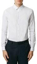 Topman Men's Slim Fit Dot Print Shirt