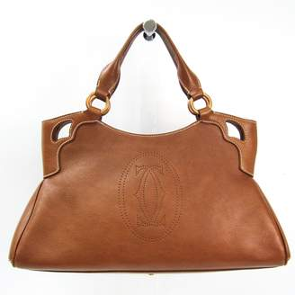 Cartier Marcello Brown Leather Handbags