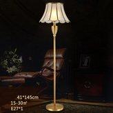 PM Floor lamp JNDFLP European Style Floor Lamp All Bronze American Style Living Room Bedroom Study Table Lamp Modern Simple Bedroom Lights E27 Led (41 * 145cm) A++